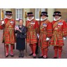 Margaret and her Guard of Honour!